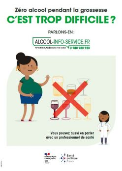 Zéro alcool pendant la grossesse, c'est trop difficile. SPF, 2020.JPG